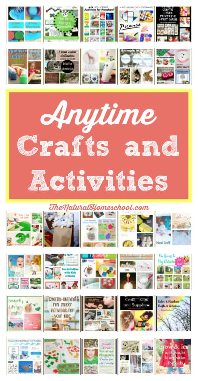 Are you ready for a wonderful list of creative crafts and super fun activities for kids? Well, here it is! In this landing page, you will find all kinds of awesome anytime crafts and activities that the whole family will love.