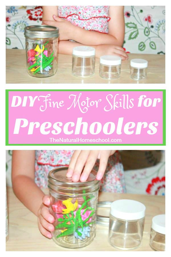 I decided to not spend tons and tons of money on fine motor skills materials, but rather, come up with my own DIY fine motor skills for preschoolers by using everyday objects that we already have at home.
