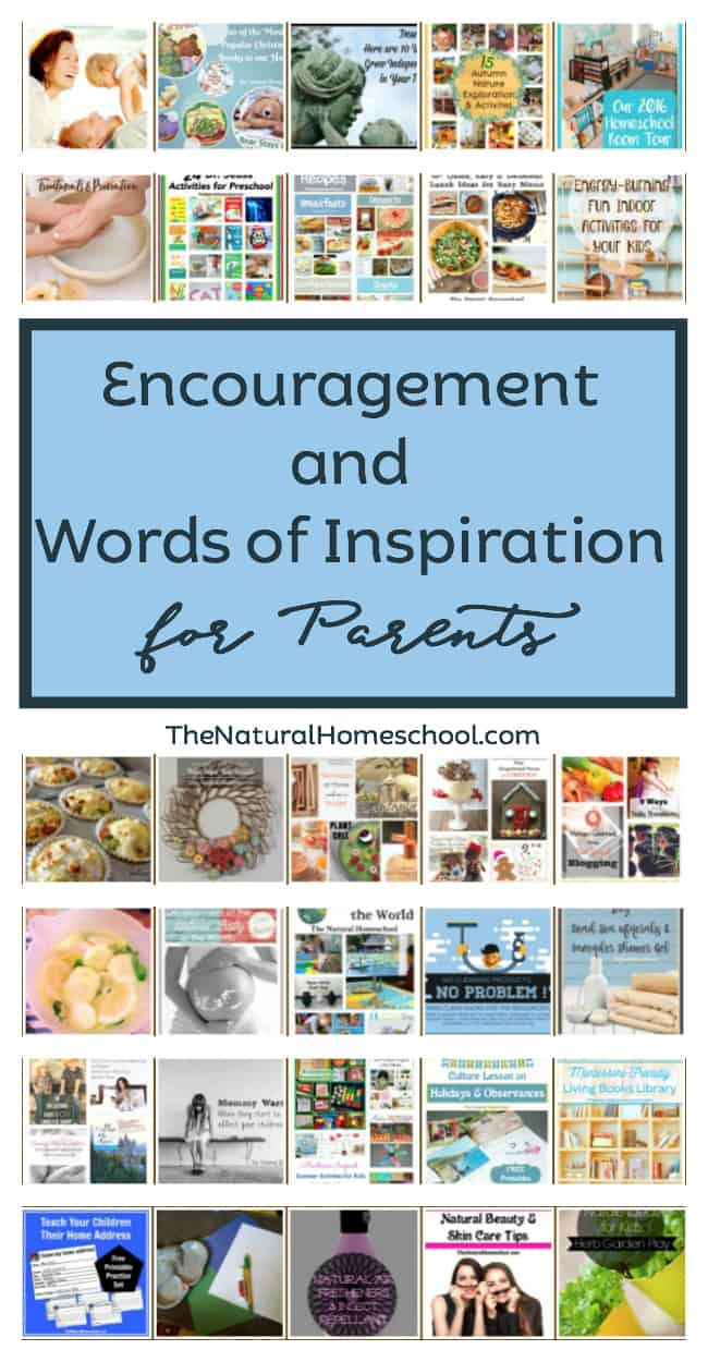 Encouragement and Words of Inspiration for Parents - The Natural ...