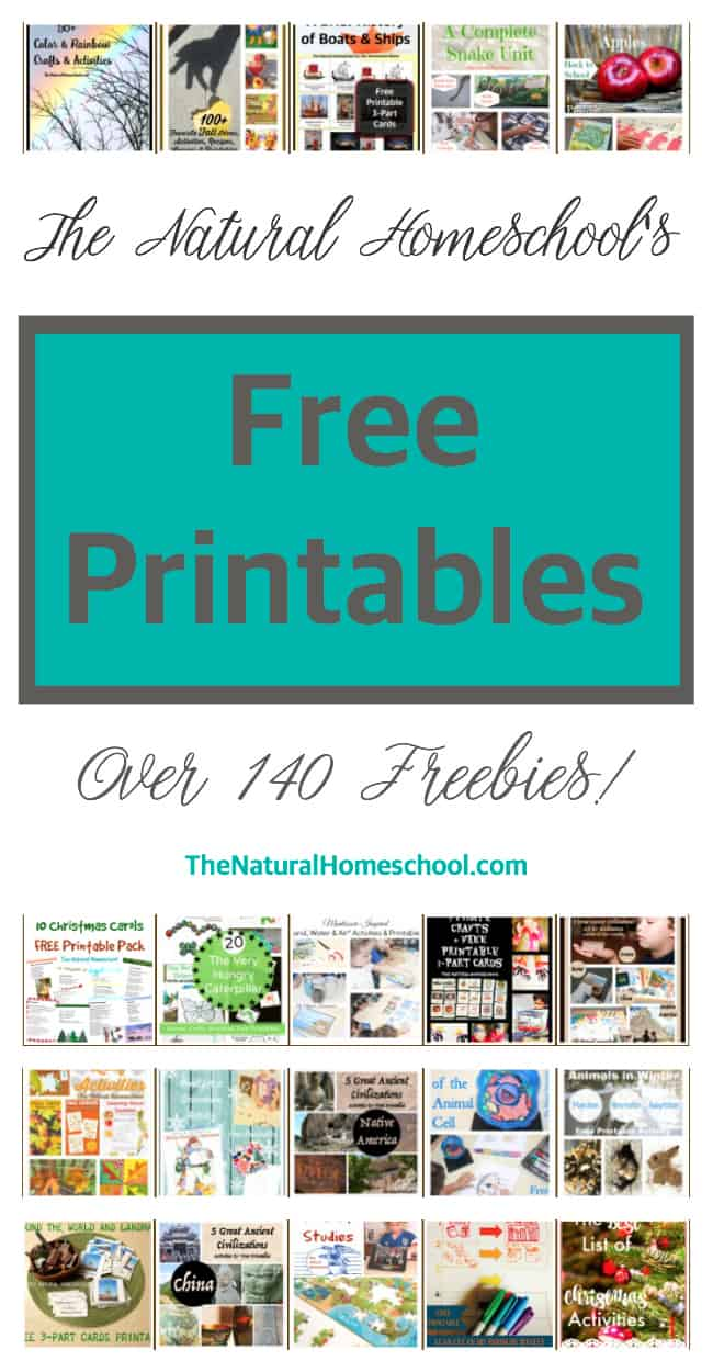The Natural Homeschool's Free Printables Online