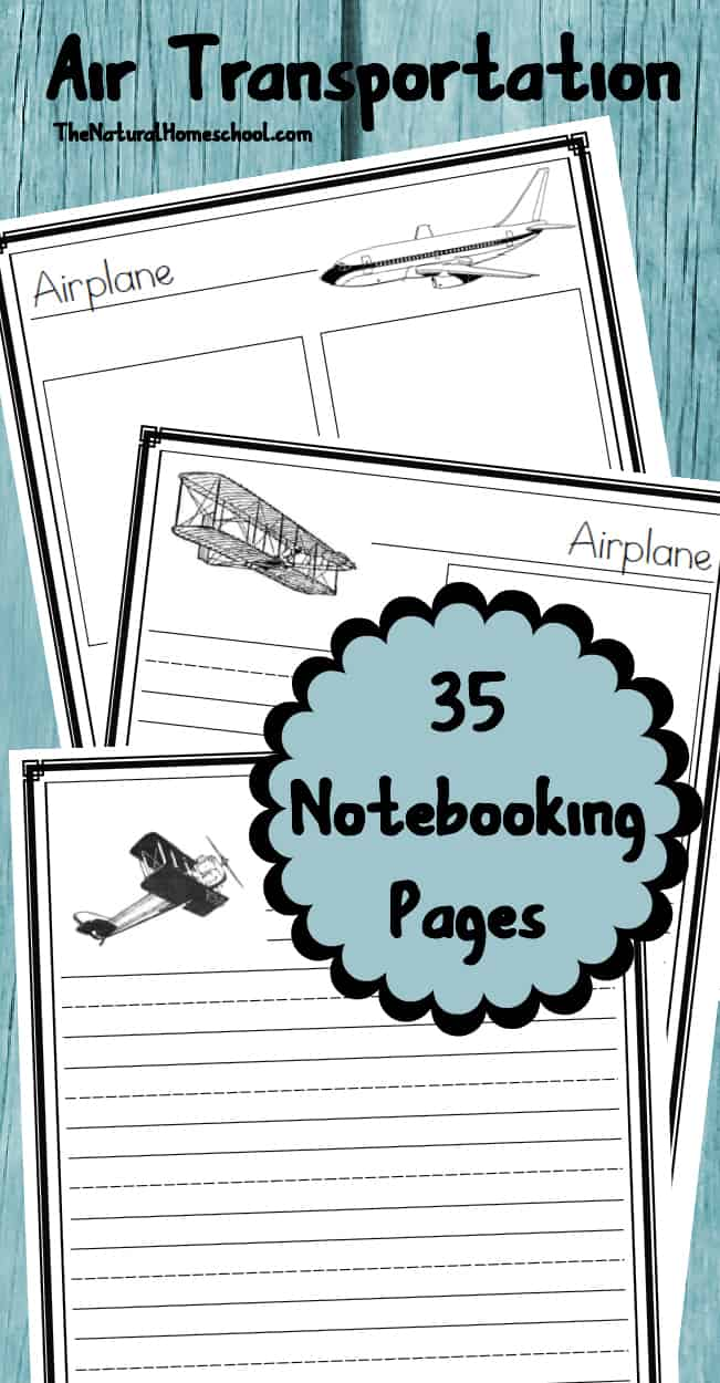 Air Transportation Lessons for Kids {Printables} - The Natural ...