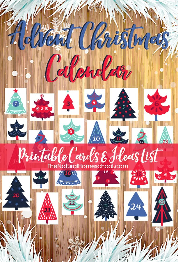 In this post, we have made these cute printable advent calendar cards and also, a list of ideas for the advent cards.
