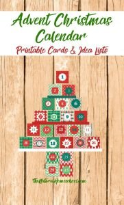 Printable Advent Christmas Calendar Cards and Lists (Square Edition)