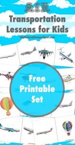 Air Transportation Lessons for Kids {Printables}