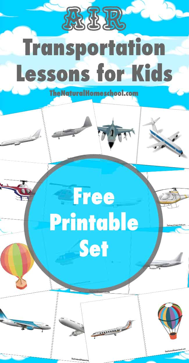 These air transportation lessons for kids include learning games for kids, printables and even notebooking ideas. I think you and your kids will really enjoy looking through our material.