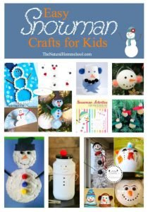 Easy Snowman Crafts for Kids {Link Party 117}
