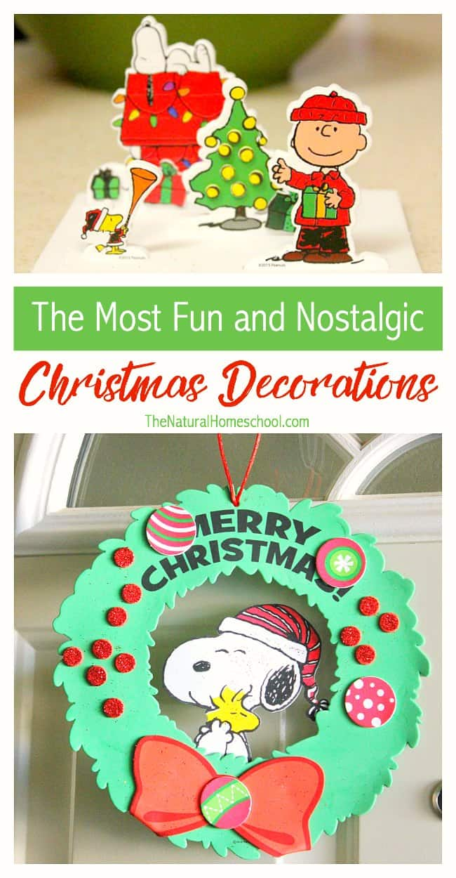 Thinking about the Peanuts characters brings back good memories. Charlie Brown, Snoopy, Woodstock, Lucy, Schroader and the rest of the gang are simply so much fun. But you know what would be even more fun? Bringing them all into our home with easy nostalgic Christmas decorations for kids!