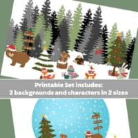 Make a Creative Winter Scene Diorama {Printable}