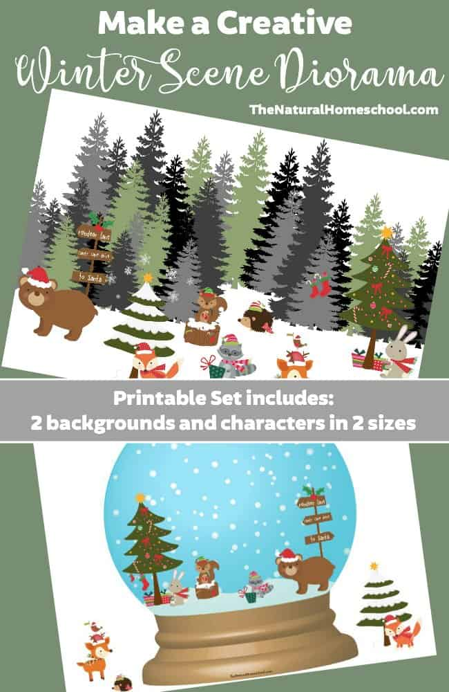 picture relating to Printable Diorama called Generate a Inventive Wintertime Scene Diorama Printable