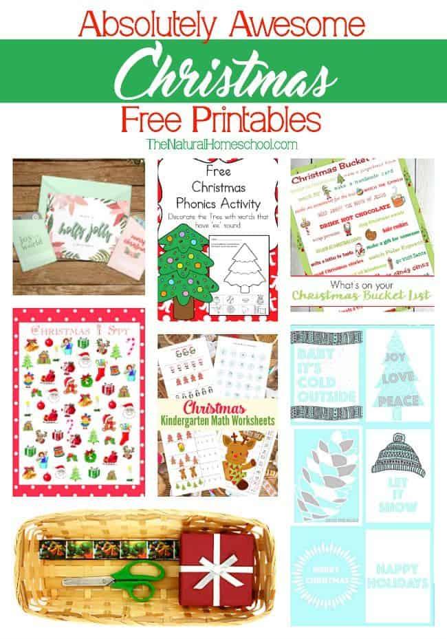 Free Christmas Printables For Kids The Natural Homeschool