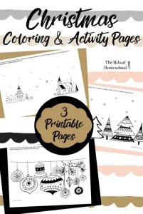 Christmas Coloring Pages for Kids (3 Printable Activities)