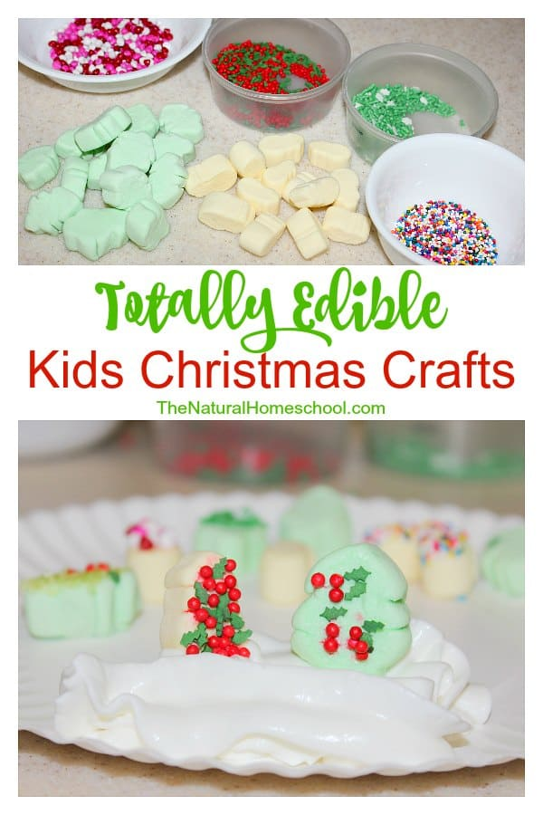 Easy edible christmas crafts the natural homeschool for Edible christmas crafts for kids