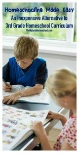 An Inexpensive Alternative to Third Grade Homeschool Curriculum