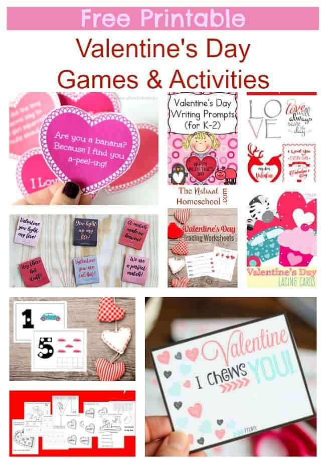 Free Printable Valentine\'s Day Games & Activities - The Natural ...