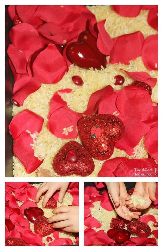 In this post, we will share some heart activities for kids that we love, especially, this lovely sensory bin that is perfect for Valentine's Day or for anytime.