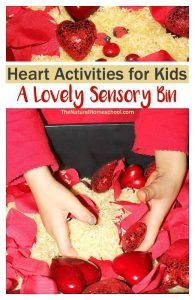 Heart Activities for Kids – Lovely Sensory Bin