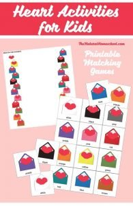 Heart Activities for Kids to Match Colors {Printable}