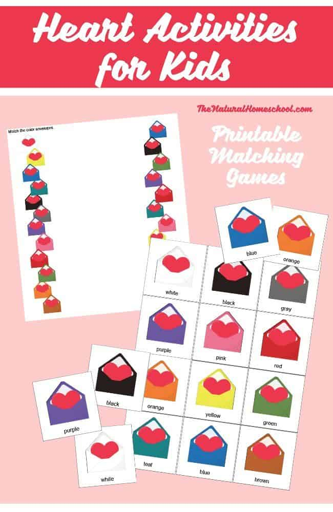 With Valentine's Day coming up, I made this printable for her to practice her colors in a cute way. I mean, who doesn't love hearts, especially around Valentine's Day, right?