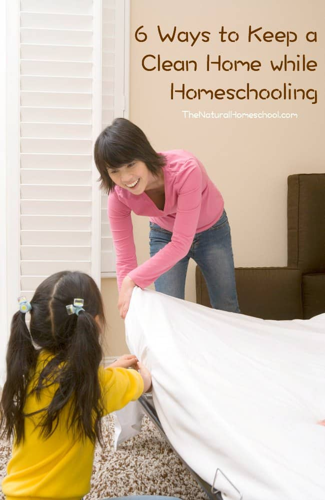 Here are some ways that can help you keep a good order at home and to keep a clean home while homeschooling.