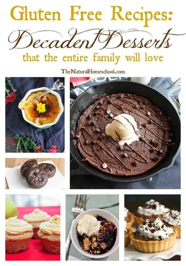 I am looking to weaning our family from grain dependence. In this post, I have compiled a great list of Gluten Free recipes, desserts in particular. I hope you enjoy this list and decide to try some!