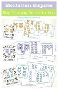 Montessori-Inspired Butterfly Skip Counting for Kids {4s, 5s, 6s Printables}