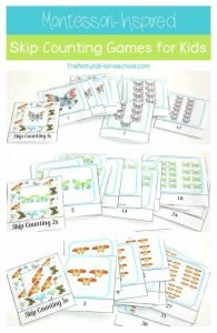 Montessori-Inspired Skip Counting for Kids {1s, 2s, 3s Printables}