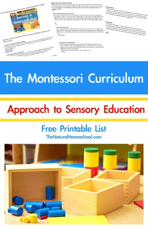 In this post, we will go a little into the Montessori curriculum approach to sensory education and we share a printable sheet for you to download and use in your environments.