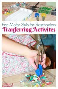 Fine Motor Skills for Preschoolers: Transferring Activities