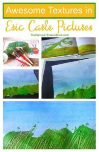 Learn to Make Textures from Eric Carle Pictures {Part 2}