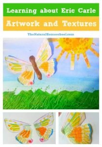 Learning about Eric Carle Artwork and Textures