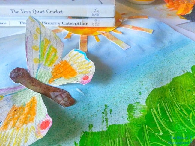 In this post, we will be learning about Eric Carle artwork and textures and we will learn how to make our very own!