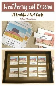 Weathering and Erosion Printables (24 3-Part Cards)