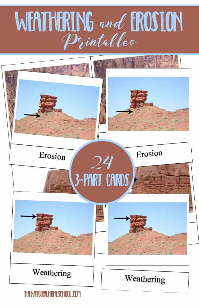 In this post, we will share an extension of our Erosion and Weathering studies by bringing you some Weathering and Erosion printables that kids will enjoy.