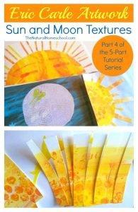 Eric Carle Artwork: Sun and Moon Textures