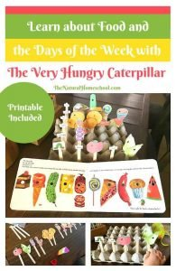 Days of the Week and Food with The Very Hungry Caterpillar