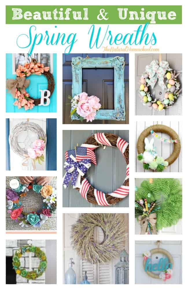 This is a great list of posts that bring you beautiful advice to make Beautiful & Unique Spring Wreaths a wonderful experience. Include your children in the reading.