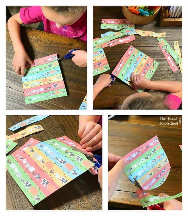Here is an awesome set of printable Preschool Cutting Practice Worksheets with farm animals pictures that your kids will love!