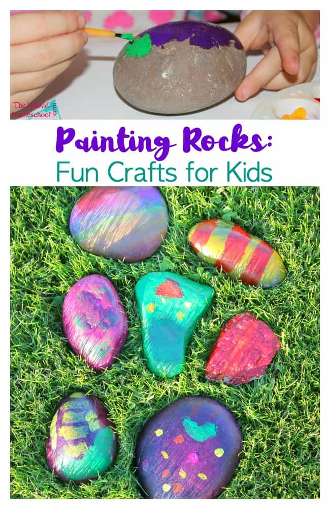 We got creative and decided on painting rocks. Here are some wonderful and fun crafts for kids.
