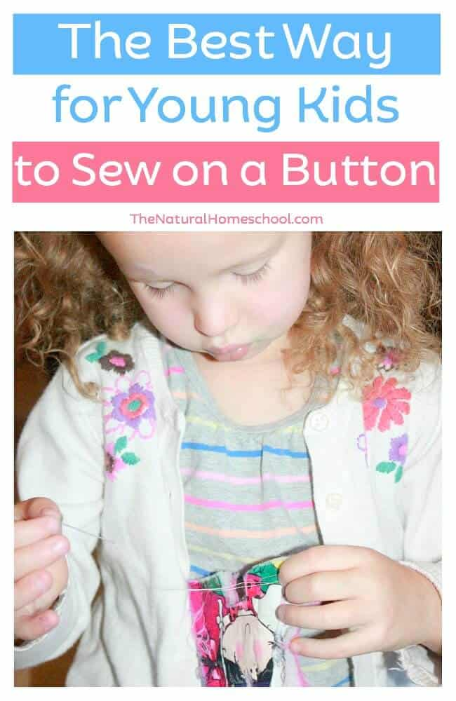In this post, we will share the best way to sew on a button for children to practice fine motor skills, but also an important life skill.