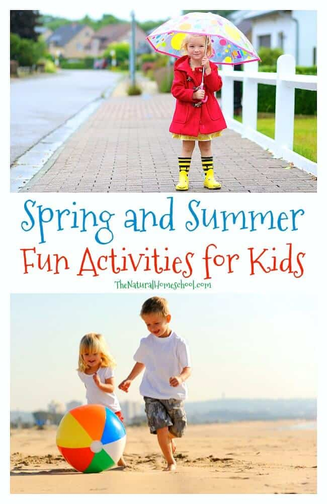 Take a look at all of our Spring and Summer Fun Activities for Kids and see how much fun you can have with your little ones as you discover more and more things to fill in the time during the hotter seasons of the year.