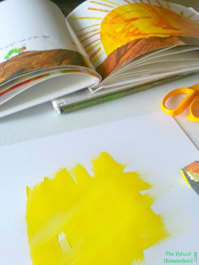 Our post, Eric Carle Artwork, will show you how to easily make Eric Carle-inspired sun and moon textures! They will turn out amazing and your kids will really enjoy making them!