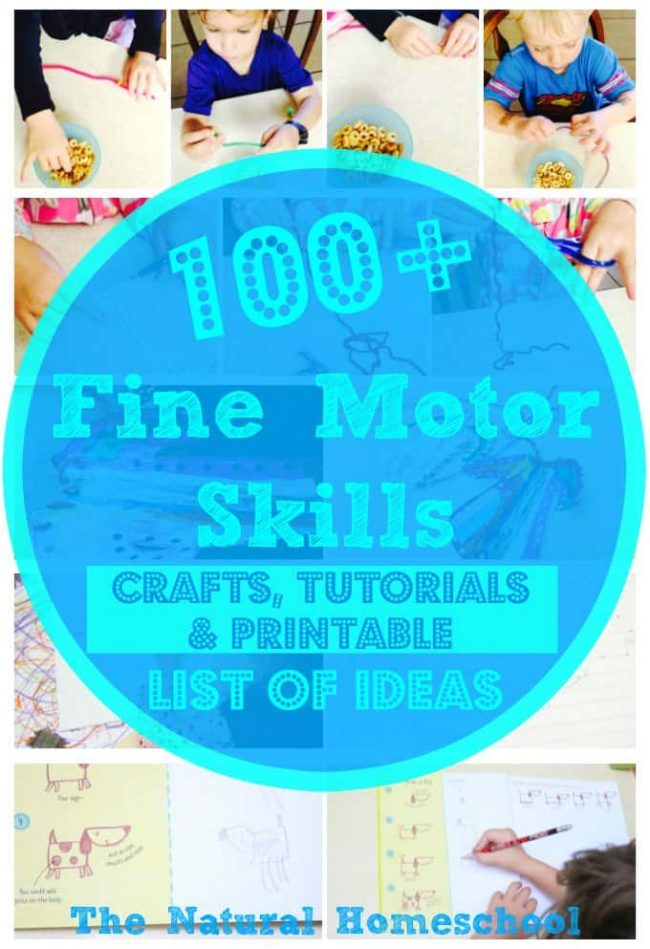 On this page, you will find a huge list of resources for Fine Motor Skills! There are activities, practice ideas and printables, fun hands-on crafts and an awesome printable list of ideas that you will find fascinating and easy to put into practice.