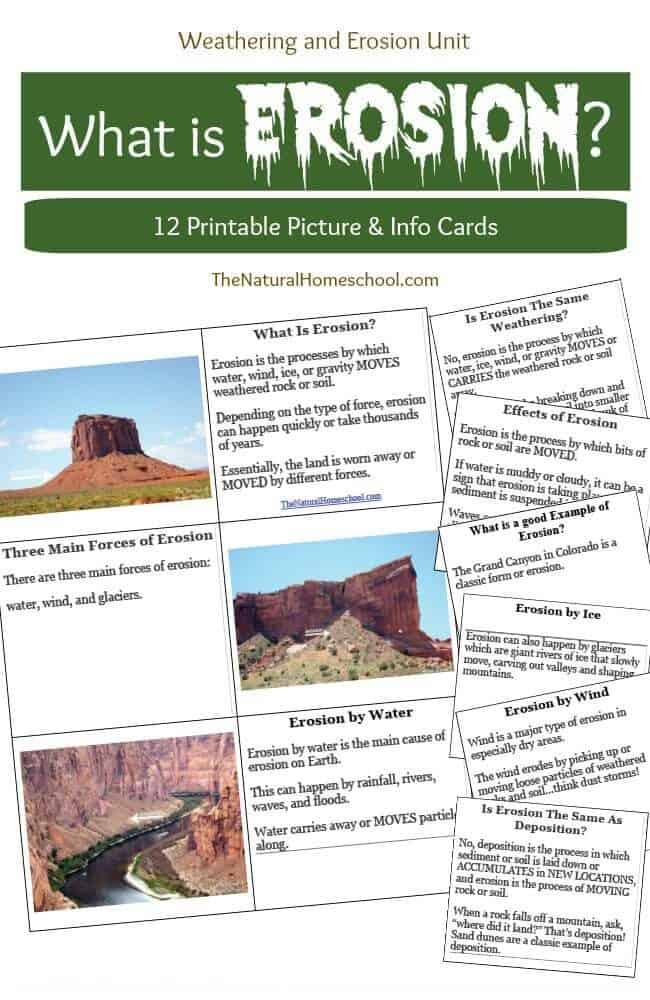 What Does Erosion Mean? {Printables} - The Natural Homeschool
