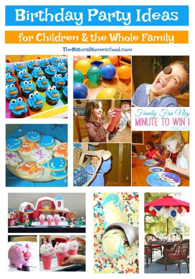 This is a great list of posts that bring you beautiful advice to make Birthday Party Ideas for Children a wonderful experience. Include your children in the reading.