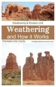 Weathering & Erosion Unit: Learn All about How Weathering Works {Printable Cards}