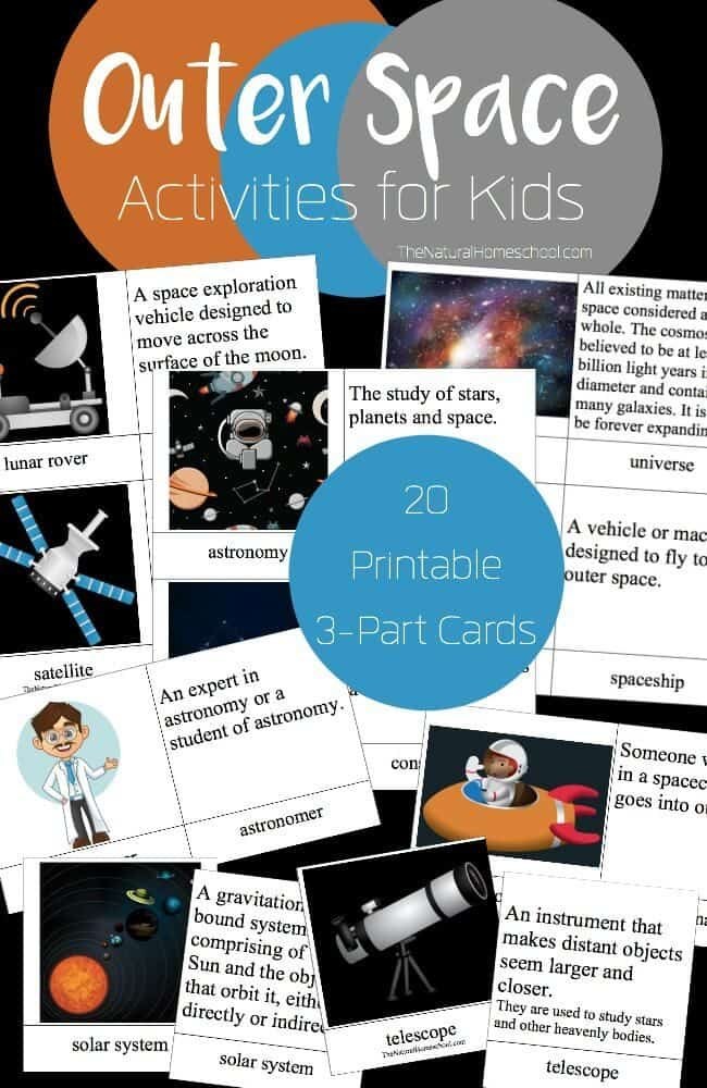 Outer Space Activities for Kids {Printable 3-Part Cards} - The ...