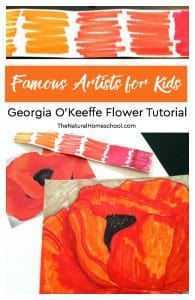 Famous Artists for Kids ~ Georgia O'Keeffe Flower Tutorial