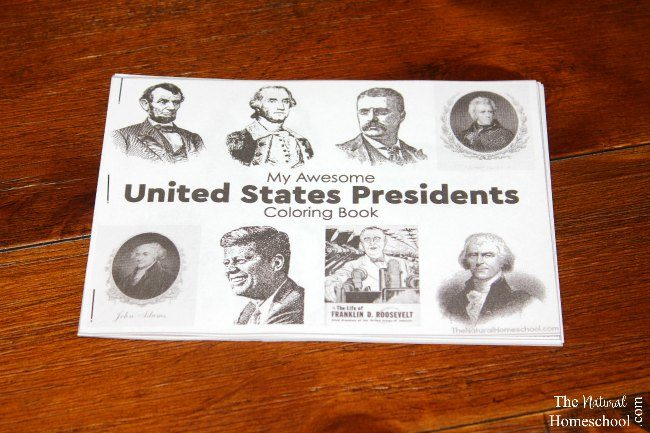 Coloring Pages United States : Us presidents activity coloring pages for kids printable book
