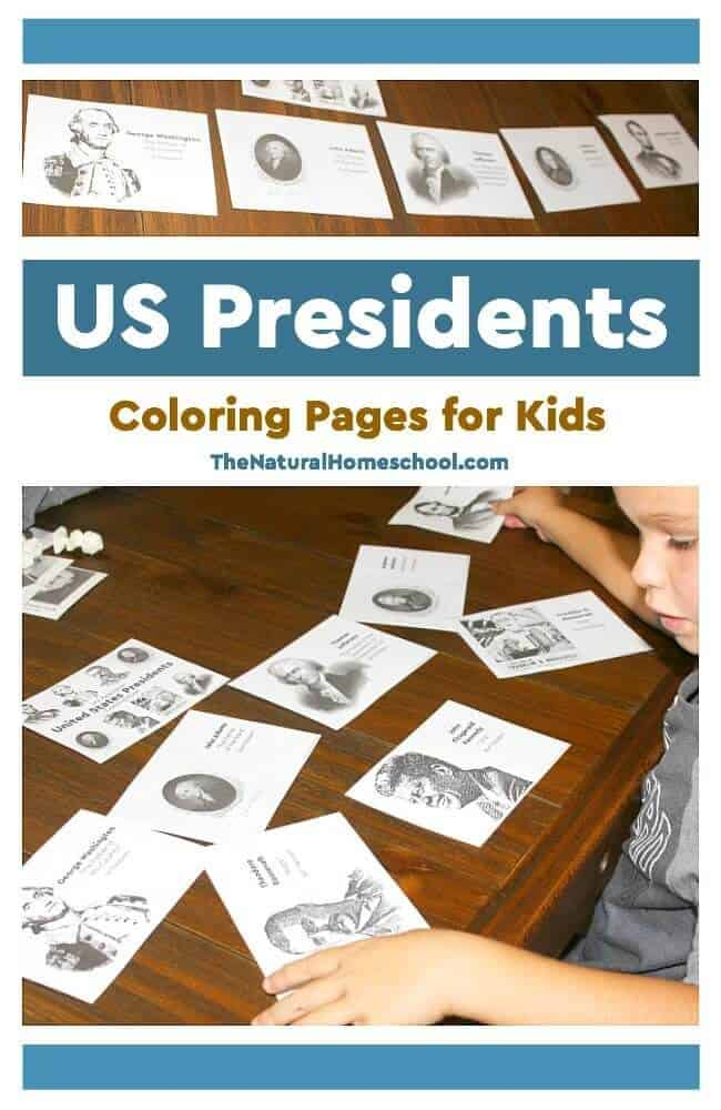 In this post, we share with you some awesome printable US Presidents Coloring Pages for Kids. They can be used in a few different ways, so let me show you what we did.