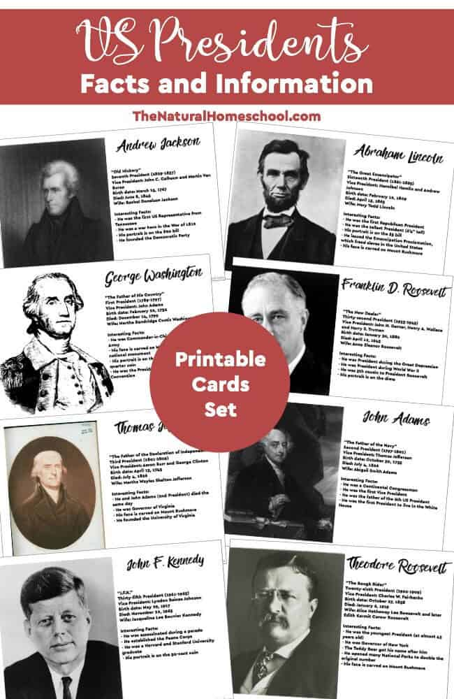 Us presidents facts information printable cards the for Fun facts about the presidents